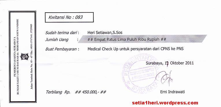 Tes Kesehatan Cpns Di Rsud Dr M Soewandhie Soerabaja