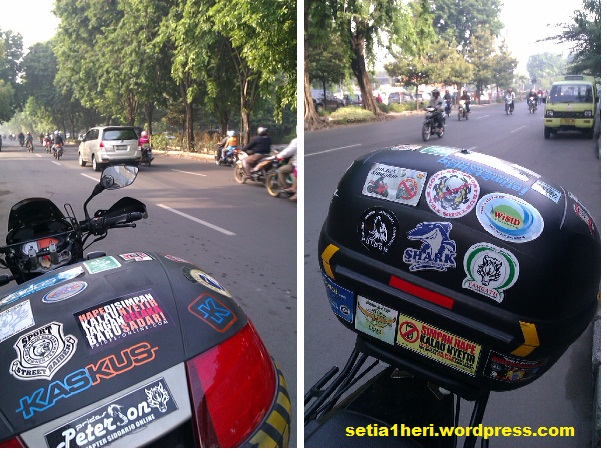 kampanye stiker safety riding