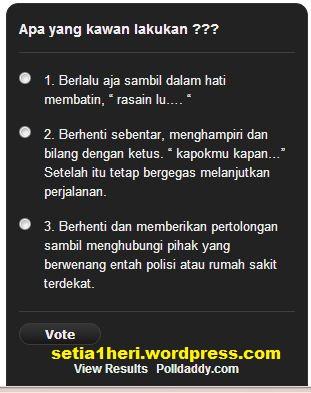 polling sikap pada alay