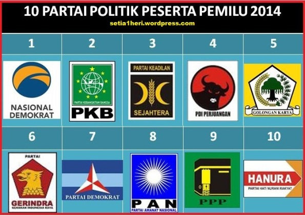 10 parpol pemilu 2014