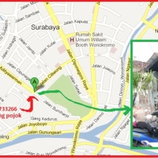 peta bakso ciliwung surabaya