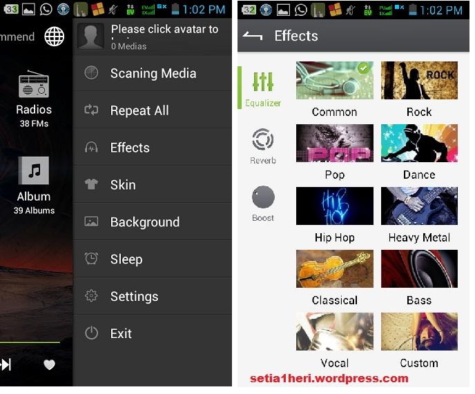 menu-menu TTPOD di android