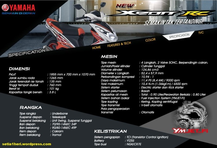 spesifikasi Yamaha Xeon RC