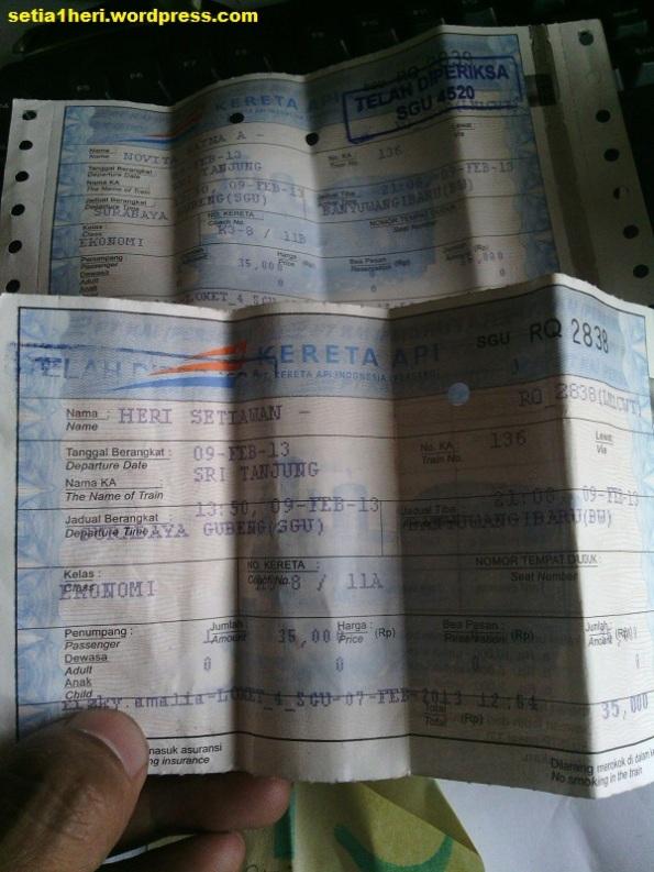 tiket kereta api sri tanjung