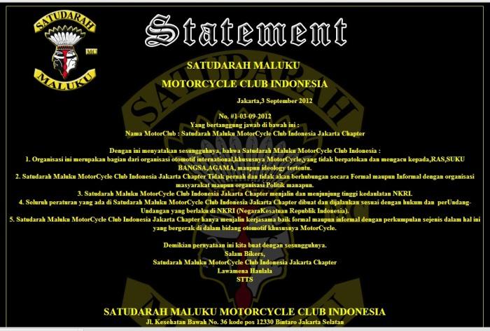 satudarah MC jakarta chapter