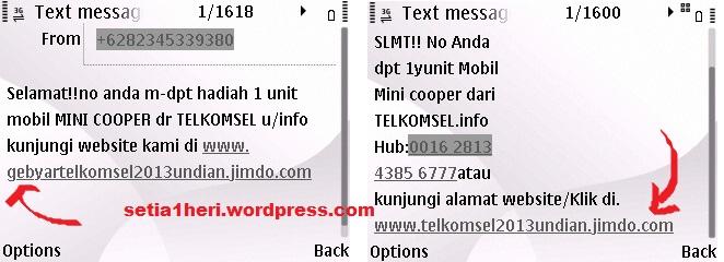 Waspada Penipuan Hadiah Undian Telkomsel Setia1heri Org