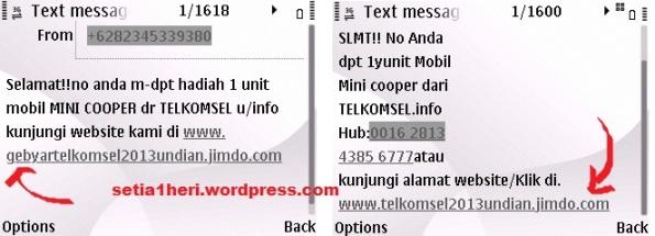 sms penipuan undian telkomsel