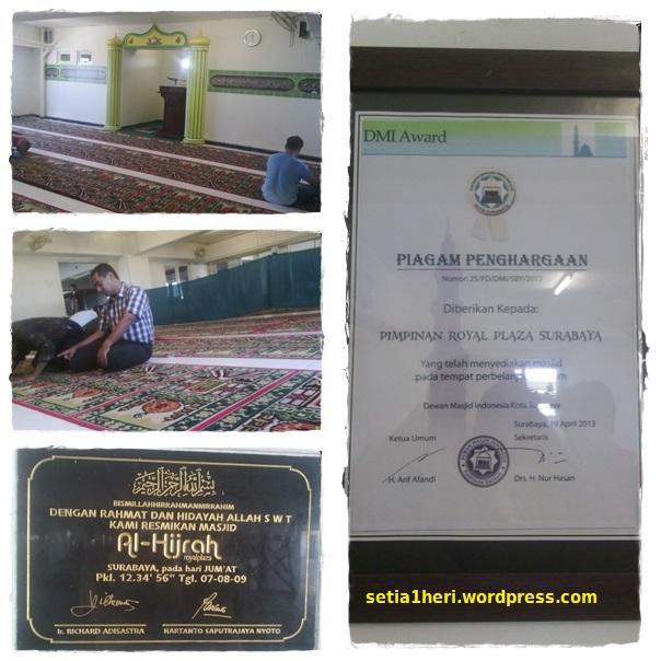 kondisi masjid alhijrah royal plaza