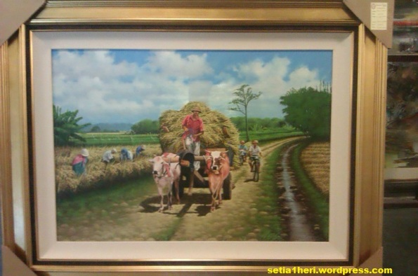 lukisan petani pedesaan