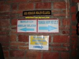 papan penunjuk masjid tiban