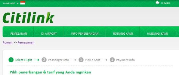 citilink booking