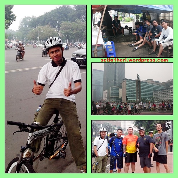 gowes car free day bunderan HI Jakarta