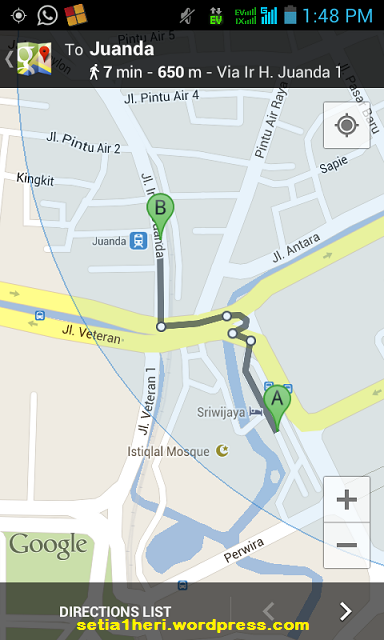 jalan kaki stasiun Gambir-Juanda