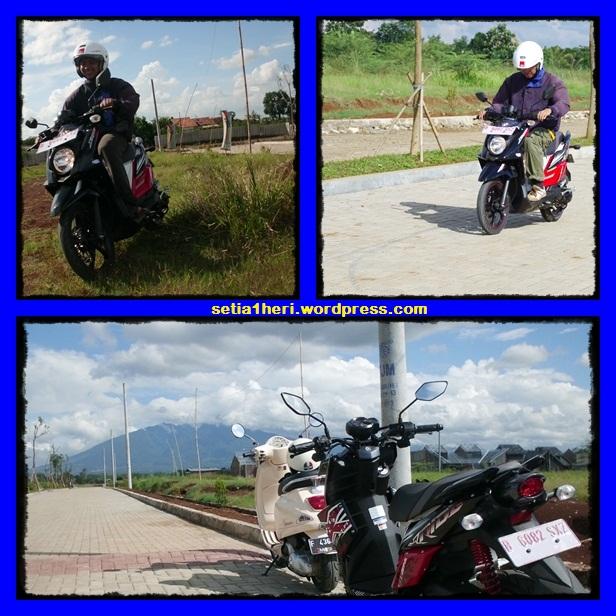 X-Ride didekat gunung salak