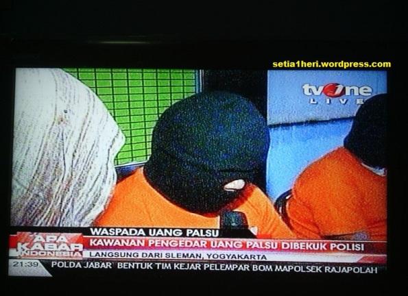 Pengedar Uang Palsu Tv One