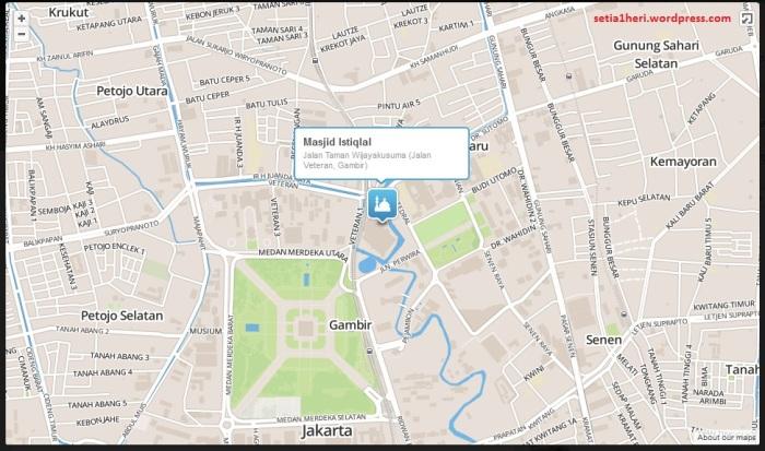 Peta masjid istiqlal jakarta