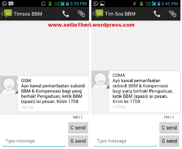 sms Tim Sos BBM