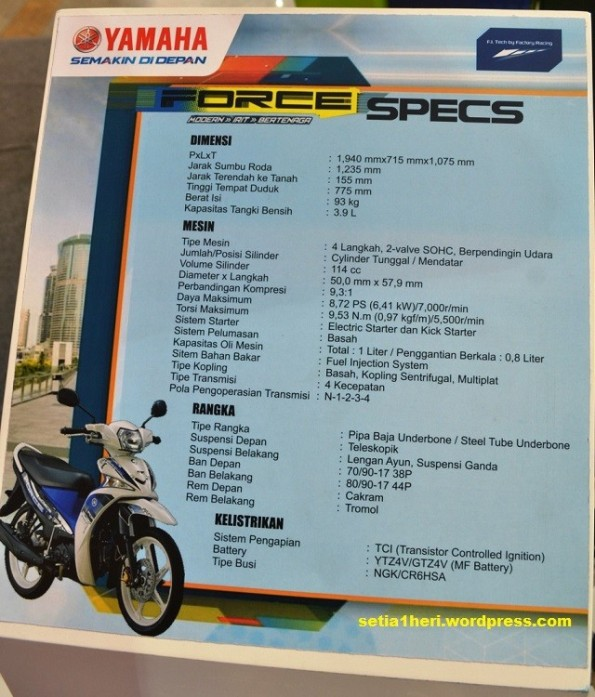 spesifikasi yamaha force