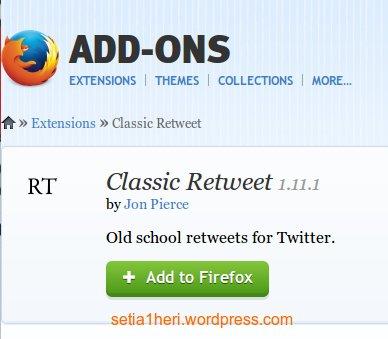 add on classic retweet