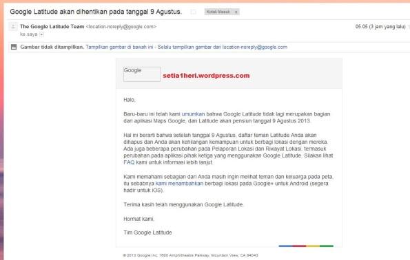 google latitude dihentikan 9 agustus 2013