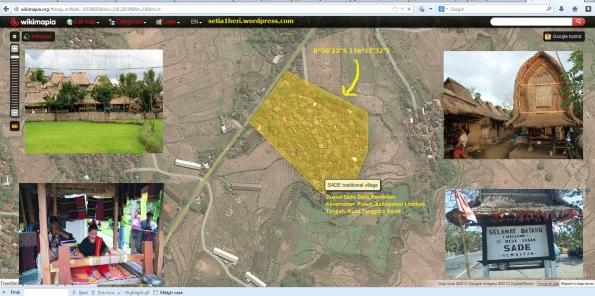 koordinat GPS desa sade rambitan lombok