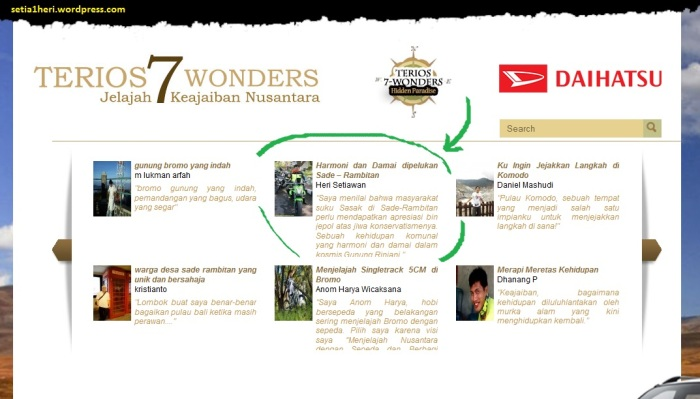 lomba blog terios 7 wonders