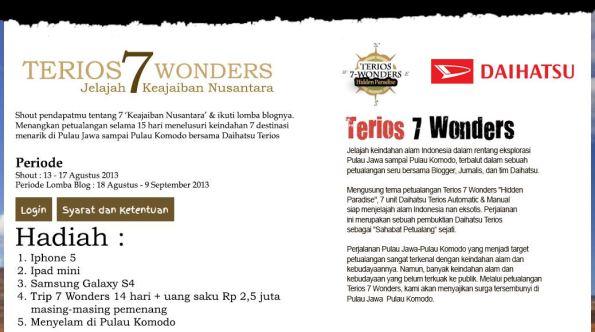 Terios 7 Wonders Hidden Paradise