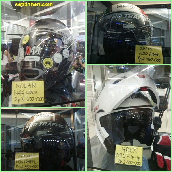 harga helm Nolan dan Grex