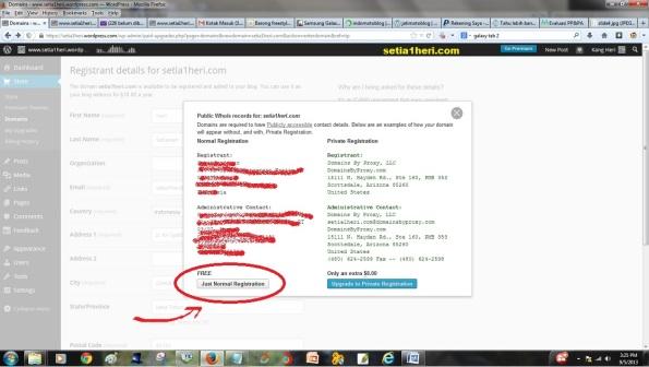 payment beli domain di wordpress
