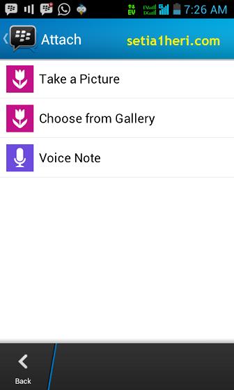 attachment di BBM android