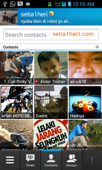 kontak BBM android