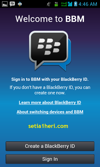 membuat Blackberry ID