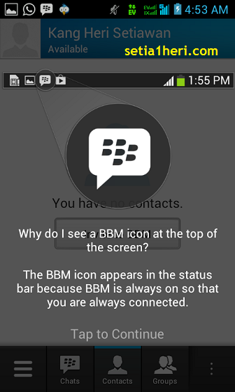 tutorial BBM for android