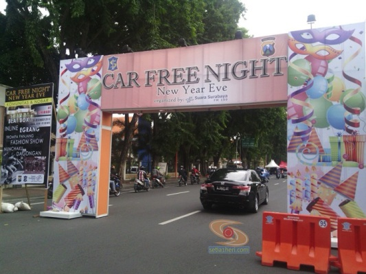 car free night di surabaya