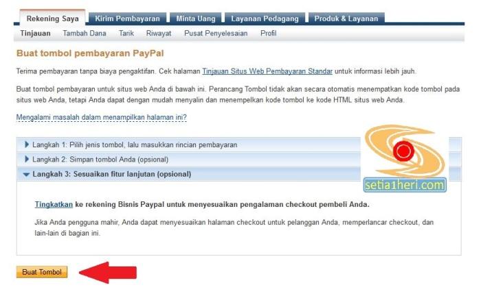 langkah donasi paypal di wordpress