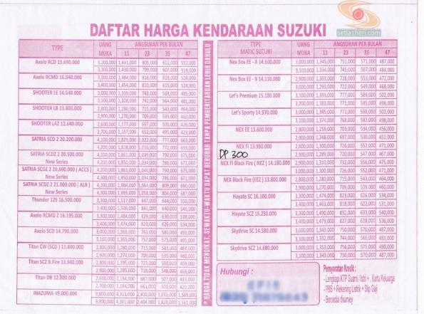 daftar harga motor suzuki di surabaya