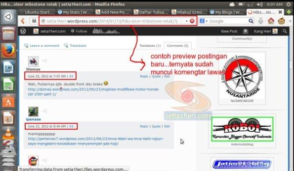 contoh ke preview postingan
