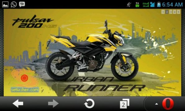 Pulsar 200 ns di website KMI