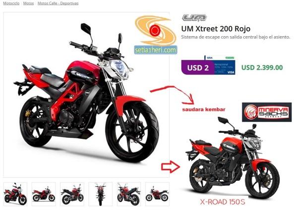 UM Xtreet 200 Rojo vs Minerva SACS X-Road 150