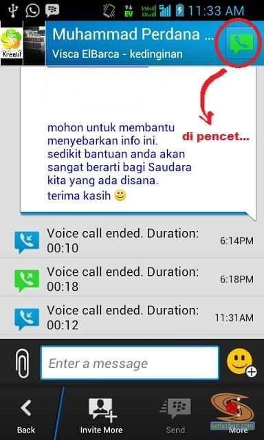 mencoba voice call bbm android