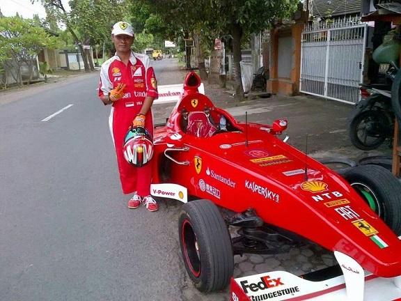mobil ferrari replika di lombok