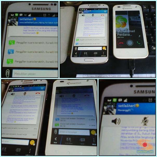 testing BBM voice call di BBM android