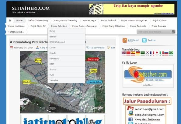 buat list menu di wordpress