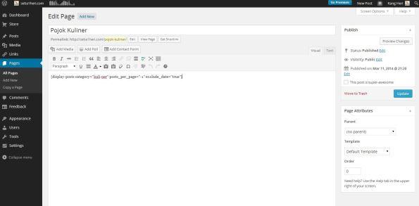 buat list menu wordpress