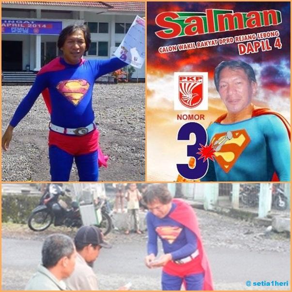 caleg berkostum superman