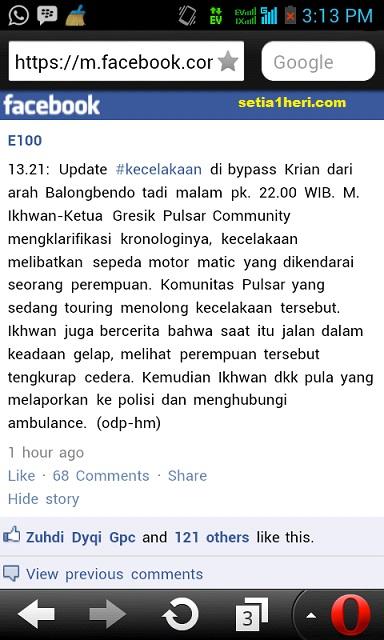 update berita kecelakaan di bypass krian balongbendo