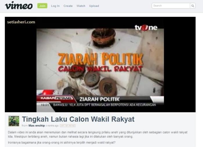ziarah politik calon wakil rakyat