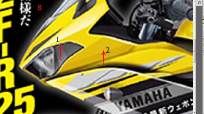 3 -perbedaan garis yang bergerigi tidak halus, tapi polesan warna kuning halus