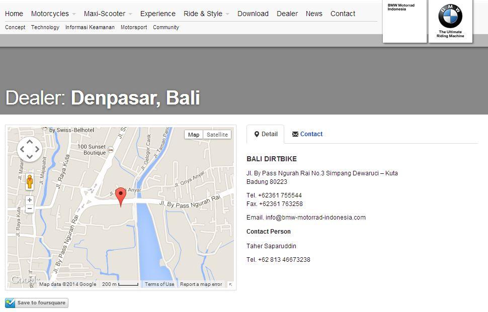 bali bmw motorrad location