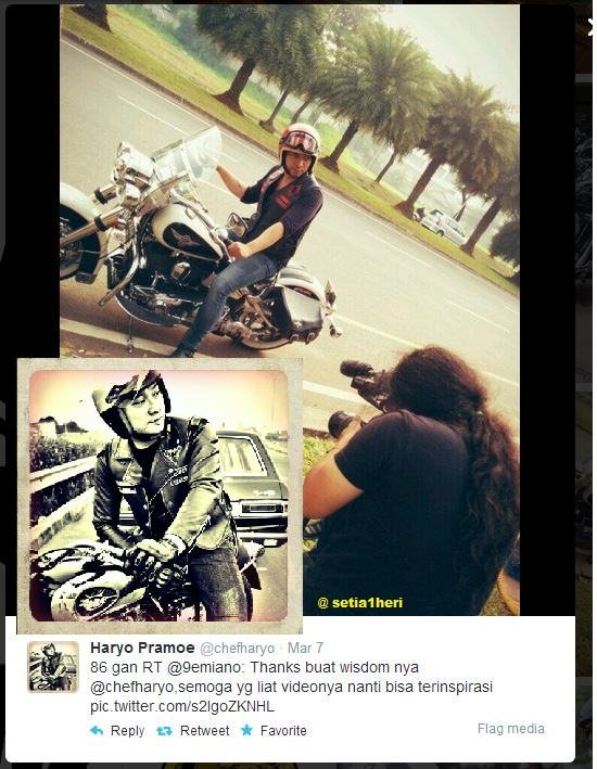 chef haryo dan motorcycle